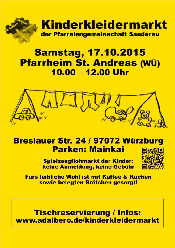 Kinderkleidermarkt Plakat 17.10.2015