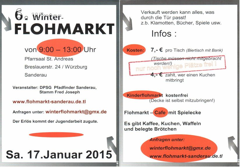 6. Winterflohmarkt in St. Andreas